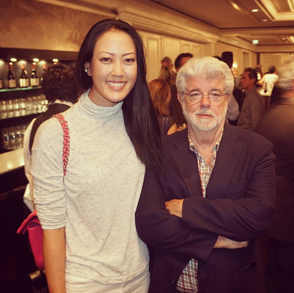 OH MY GOD ITS GEORGE LUCAS!! #nerdingout #Maytheforcebewithyou