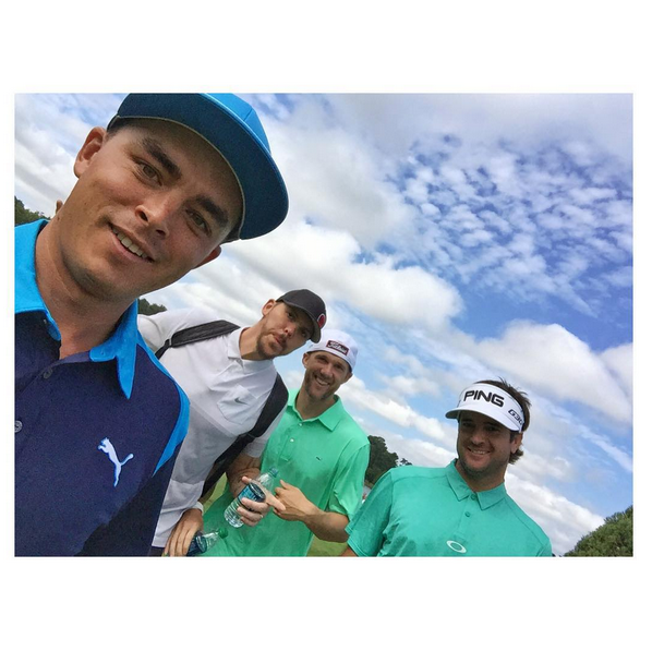Little morning shoot around yesterday with @letitflymm13 @aharri21and @bubbawatson