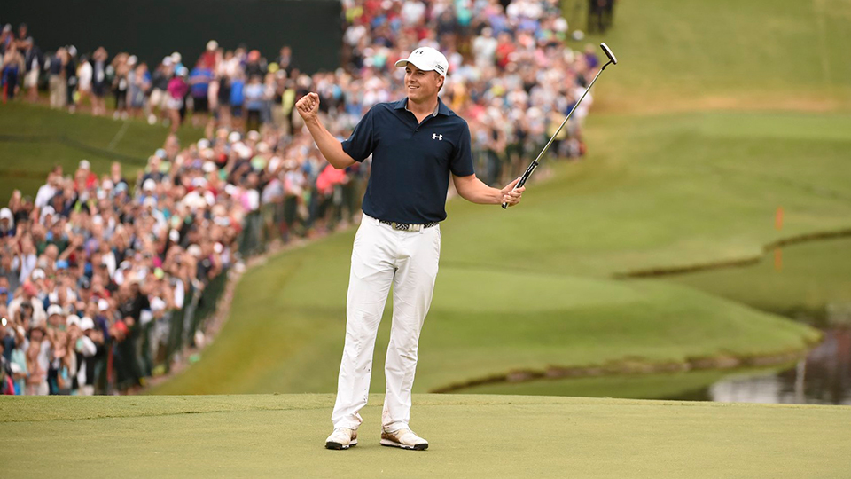 On Sunday, Spieth holed 142 feet of putts, including a 48-footer and six more of at least eight feet.