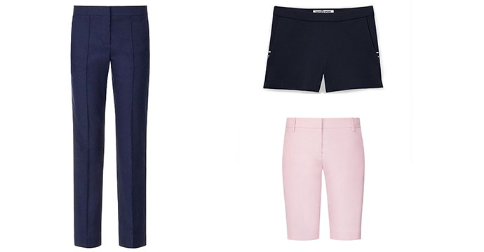 Golf Pant, $165; Flat-Front Short, $125; Bermuda Short (available 11/15), $135
