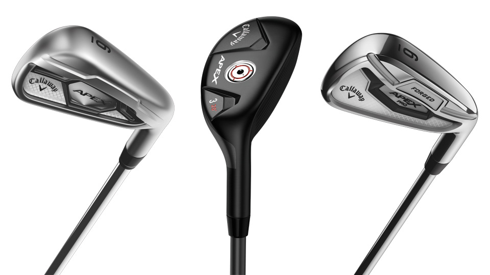 Callaway's new line of Apex clubs.