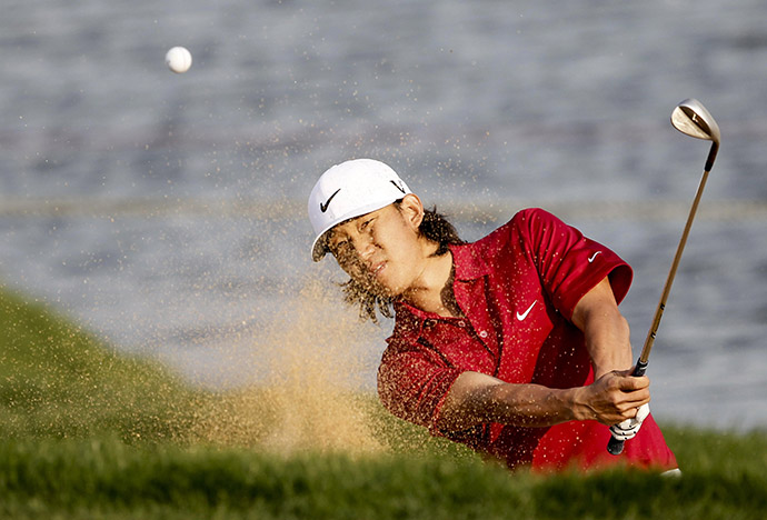Anthony Kim of the USA in action during day four of the 2011 Lake Malaren Shanghai Masters.