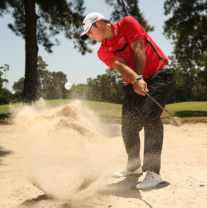 Make every bunker swing aggressive. It's the key to creating the loft and spin that holds any green.