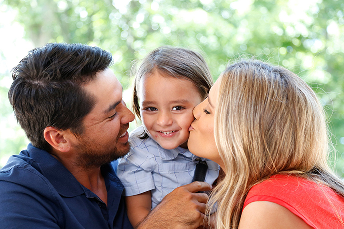 Jason and wife, Ellie, with their three-year-old son, Dash, are expecting a second child in November.