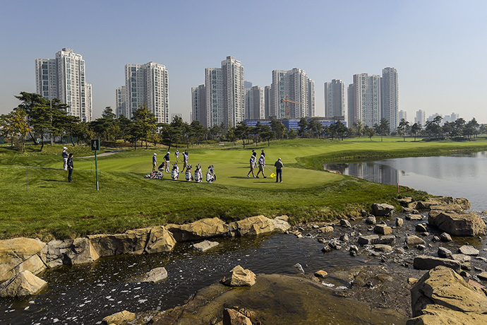 A scenic view of the Jack Nicklaus Golf Club Korea, host of the 2015 Presidents Cup.