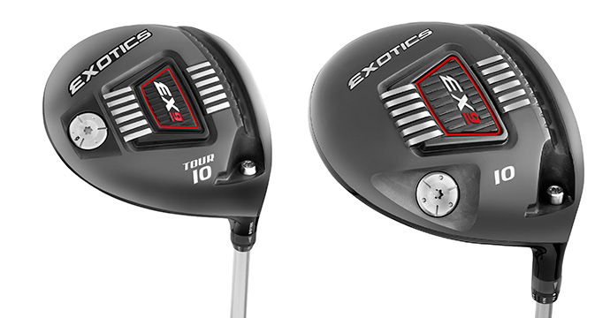 The Exotics EX9 Tour Driver (L) and Exotics EX9 Standard Driver (R)
