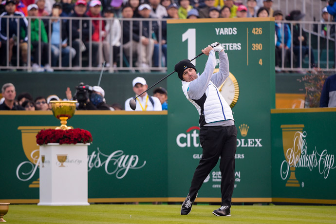 Louis Oosthuizen and Branden Grace won two matches on Saturday and are a perfect 4-0 together.