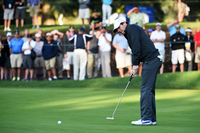McIlroy fired a solid four-under 68 in the first round.