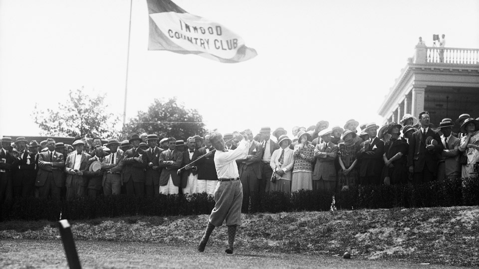 Bobby Jones during the 1923 U.S. Open.