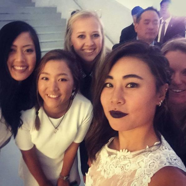 Selfie with these stunning girls @themichellewie @thejessicakorda @austinernst92 @daniellekang