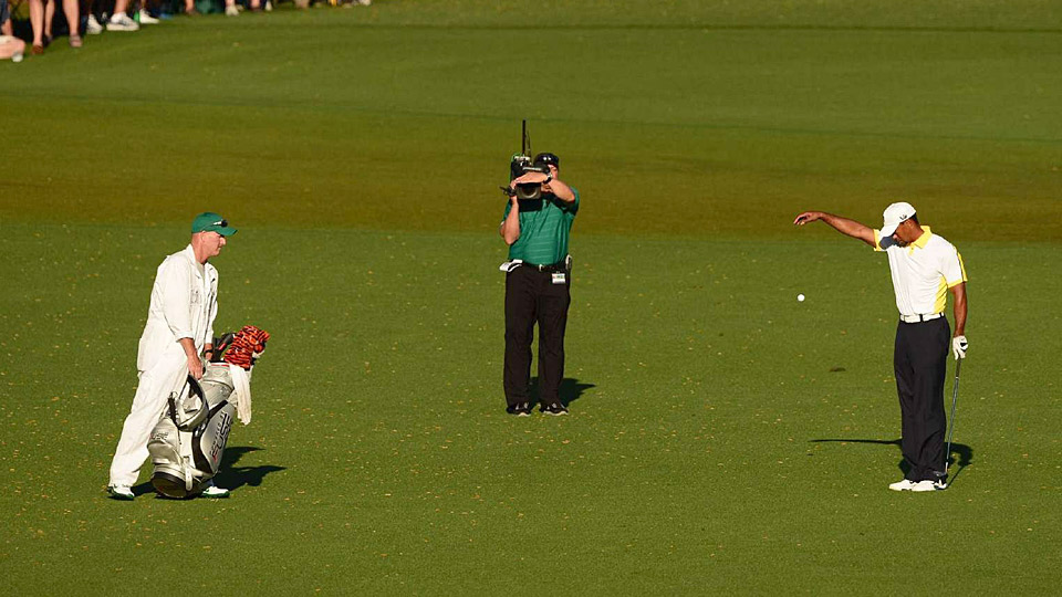 tiger woods drop at masters 2013 inside story