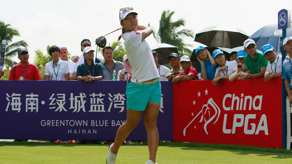Lydia Ko struggled to a 75 in the second round in China.