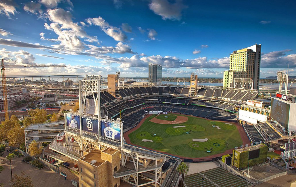 Callaway Golf and the San Diego Padres teamed up to create a 9-hole golf course within the confines of Petco Park, the Padres home stadium.