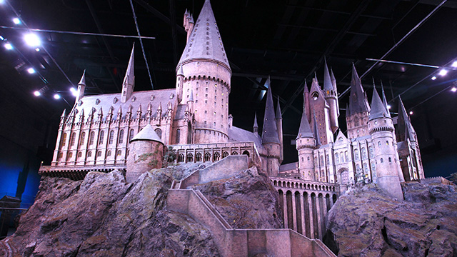 A scale model of Hogwarts castle used in the Harry Potter movies.