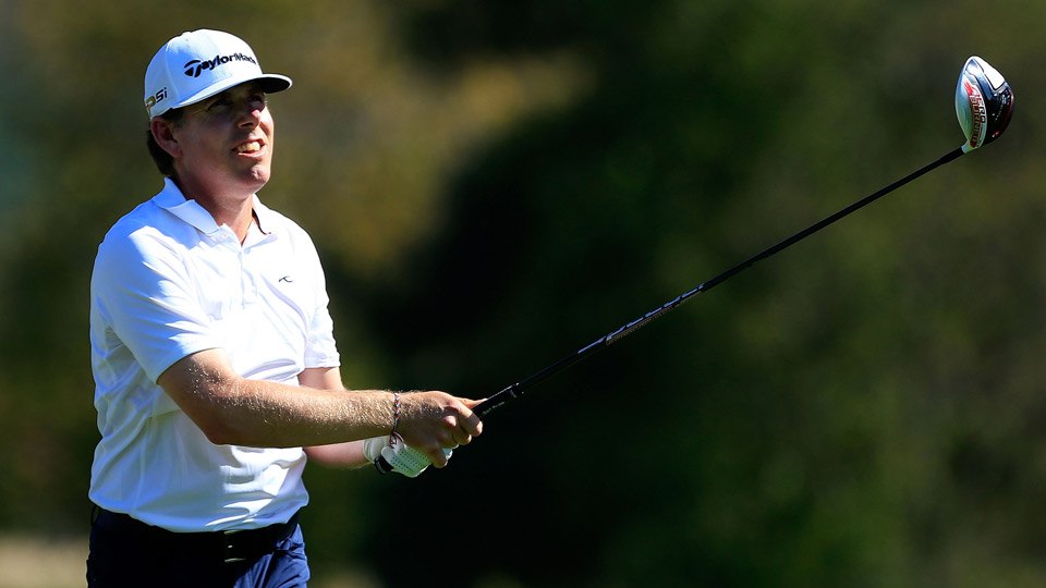 Justin Leonard is one of four players tied at six under at the OHL Classic.