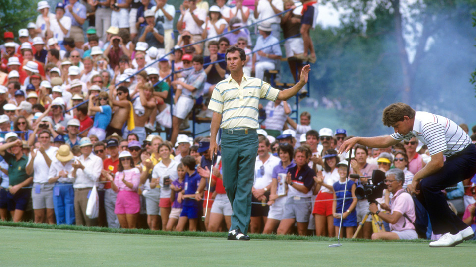 Hubert Green during the 1985 PGA Championship.