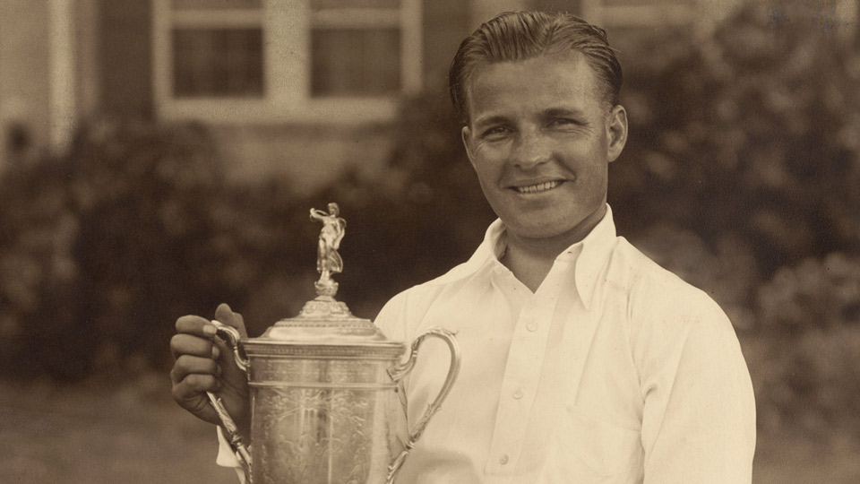 Johnny Goodman after winning the 1933 U.S. Open.