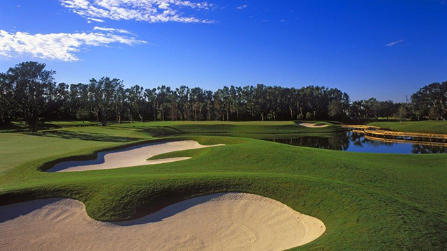 A view of the 13th hole at The Breakers' Rees Jones-designed course.