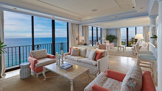 Stellar views are hard to miss in the Imperial Suite's private living room.