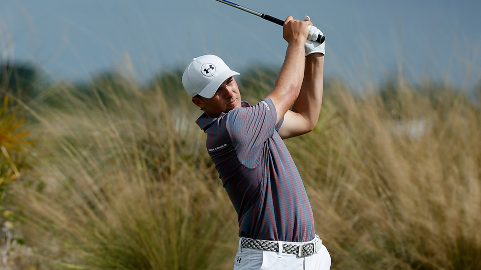 Jordan Spieth went five under on day one at the Hero World Challenge.