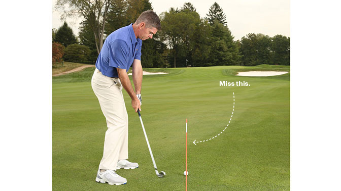 Don't swing straight down the line. Use an inside move for shots that never miss.