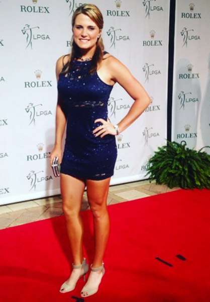 Red carpet at @rolex dinner at the @cmegrouptourchamp :)