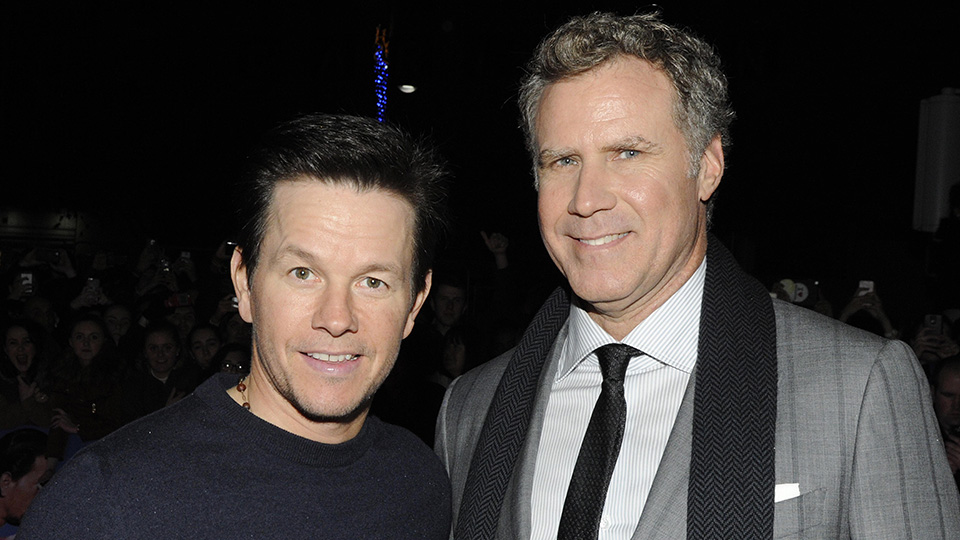 """Mark Wahlberg and Will Ferrell attend the Dublin Premiere of """"Daddy's Home"""" at the Savoy Cinema on December 7, 2015 in Dublin, Ireland."""