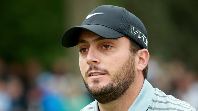 Francesco Molinari of Italy looks on during day 2 of the BMW PGA Championship at Wentworth on May 22, 2015 in Virginia Water, England.
