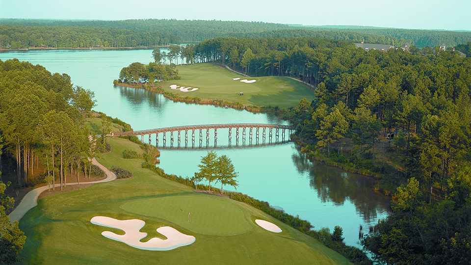 A view of the 17th and 18th hole at Reynolds Plantation's Oconee Course.