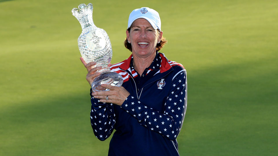 Juli Inkster captained the Americans to Solheim Cup victory in 2015.