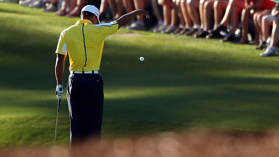 Tiger Woods' now infamous drop at the 2013 Masters might have cost him a shot at his 15th major title.