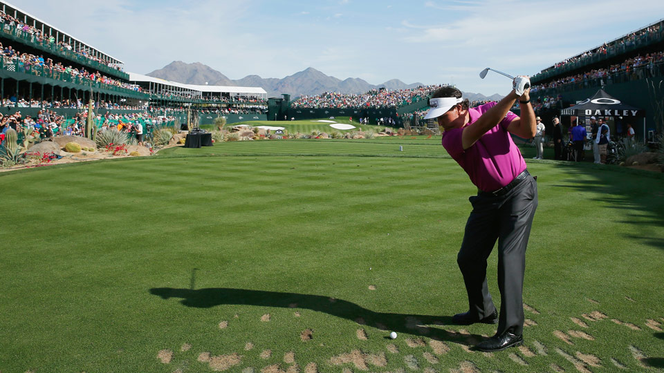 Phil Mickelson during the 2015 Waste Management Phoenix Open.