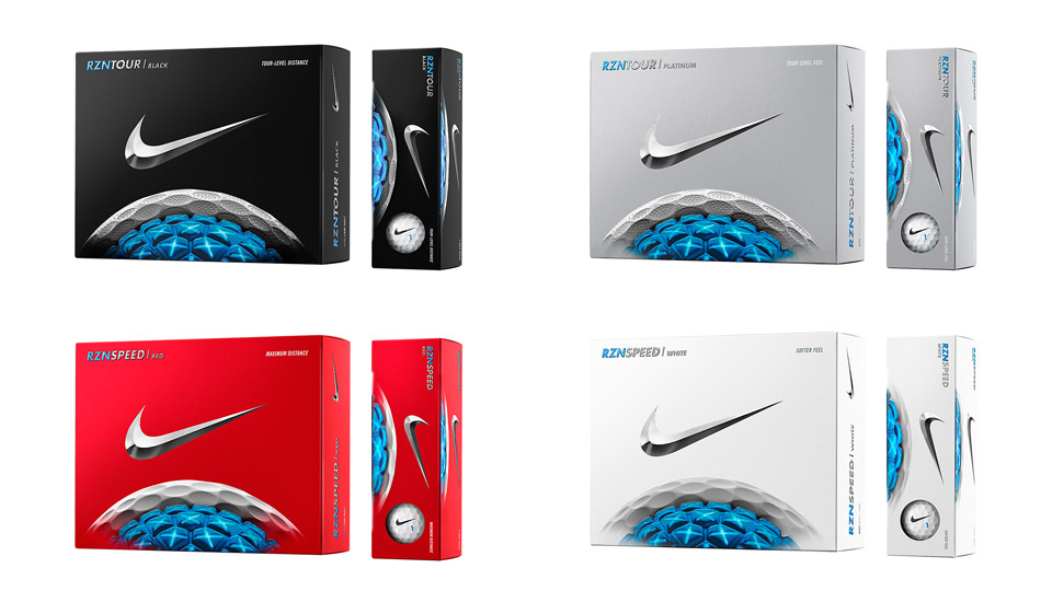 All four new Nike RZN golf balls come out in January 2016.