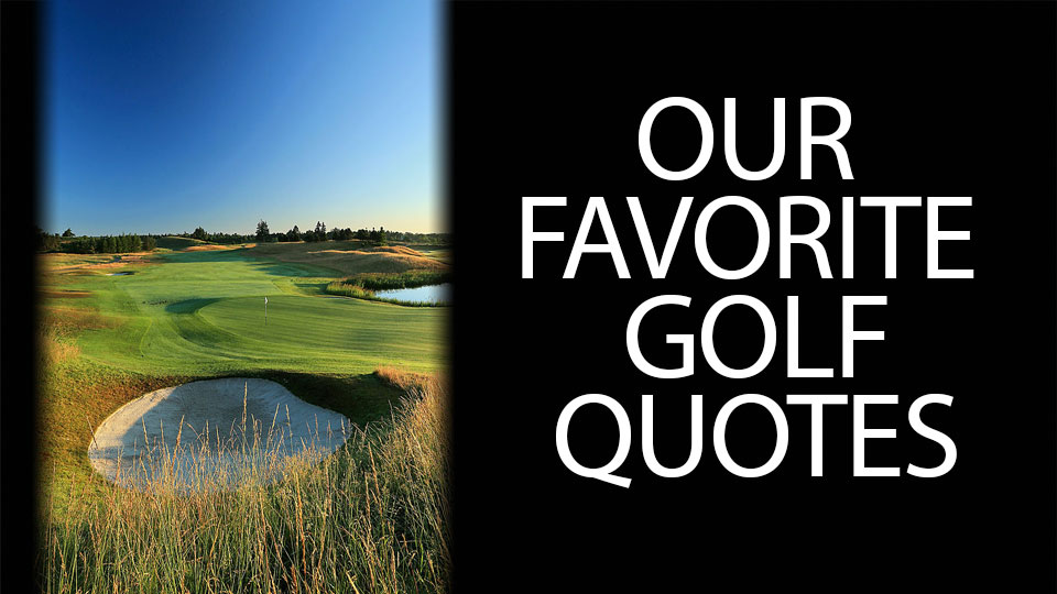 Golf Quotes Custom The Best Golf Quotes  Golf