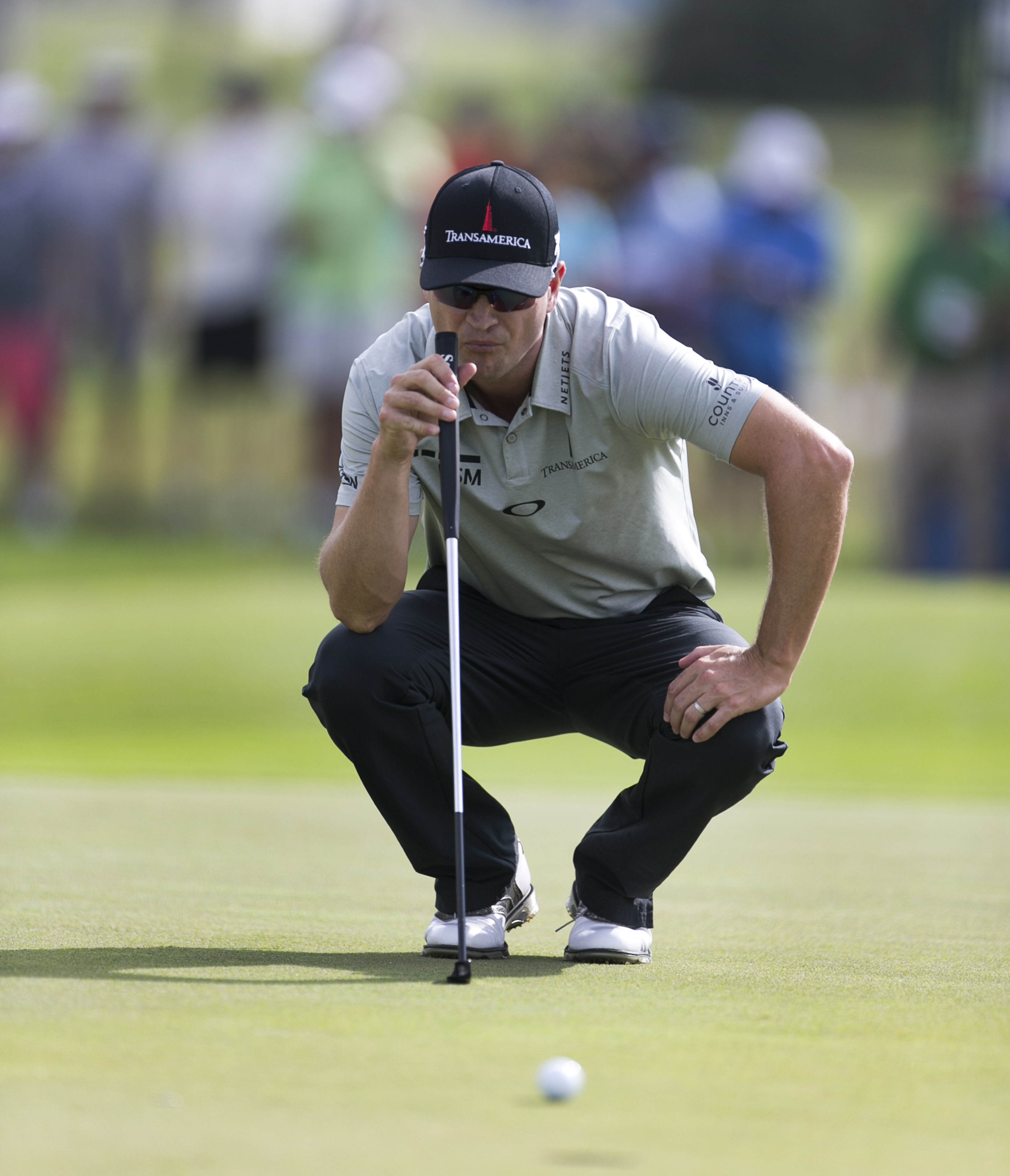 Zach Johnson shot 5-over par on the front nine during his first round at the Honda Classic at PGA National.