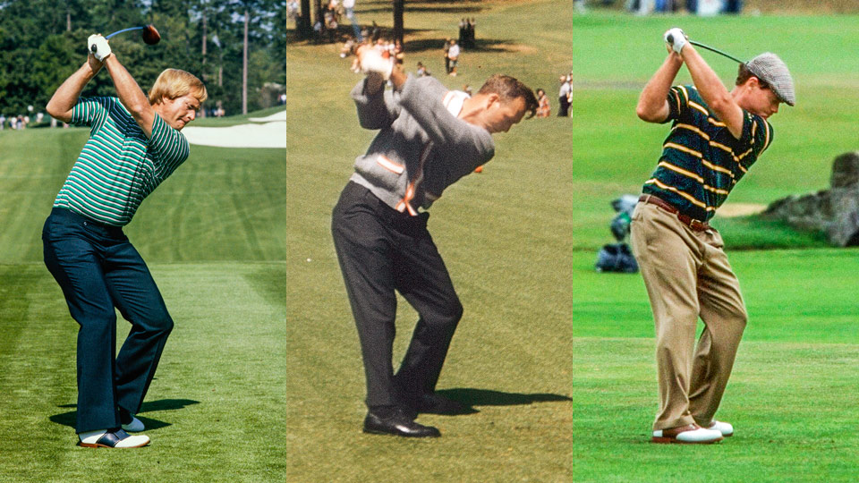 Almost every all-time great has lifted his left heel and made a big hip turn. From left: Jack Nicklaus, Arnold Palmer, Tom Watson.