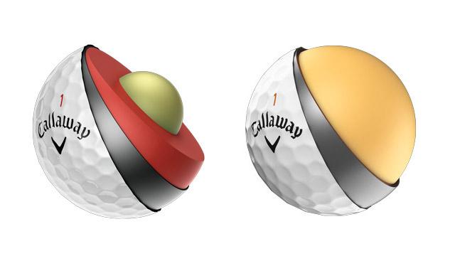 Callaway Chrome Soft Golf Ball Cutaway; Callaway Superhot 55 Golf Balls Cutaway