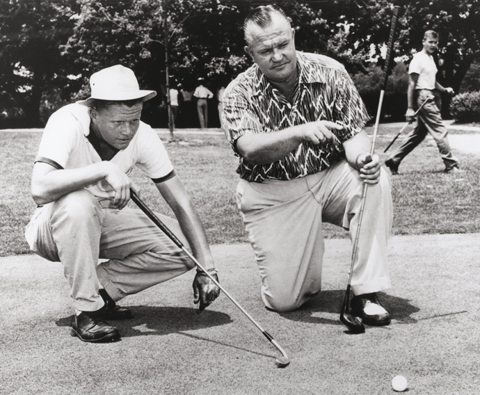 Jack and his father Charlie Nicklaus. Date unknown.