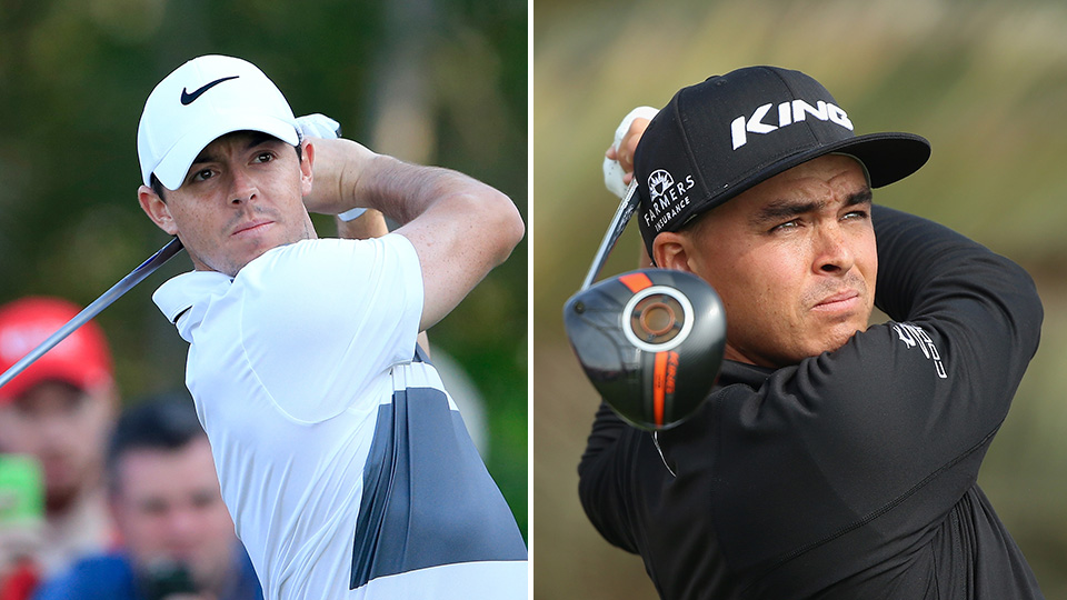 McIlroy and Fowler are part of a 5-way tie for the lead going into the final day of play in Abu Dhabi.
