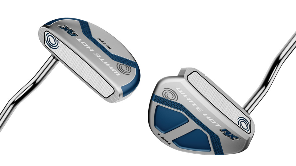 Odyssey White Hot RX Rossie and 2-Ball putters.