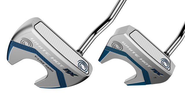 Odyssey White Hot RX V-Line Fang and #7 putters.