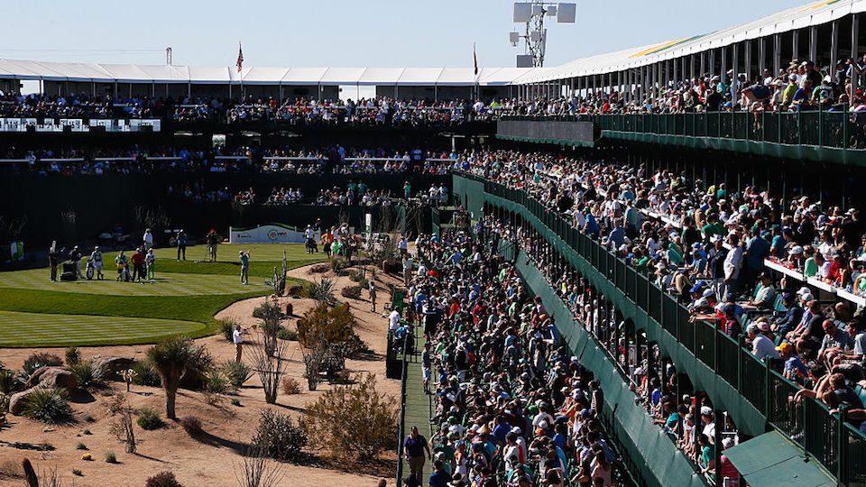 The favorite hole at TPC Scottsdale, for viewers at least, tends to be the par-3 16th.
