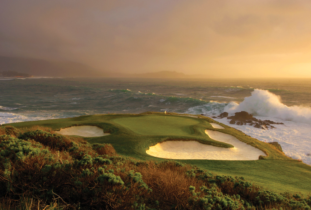 The 7th at Pebble Beach Golf Links is one of the most iconic holes in golf.