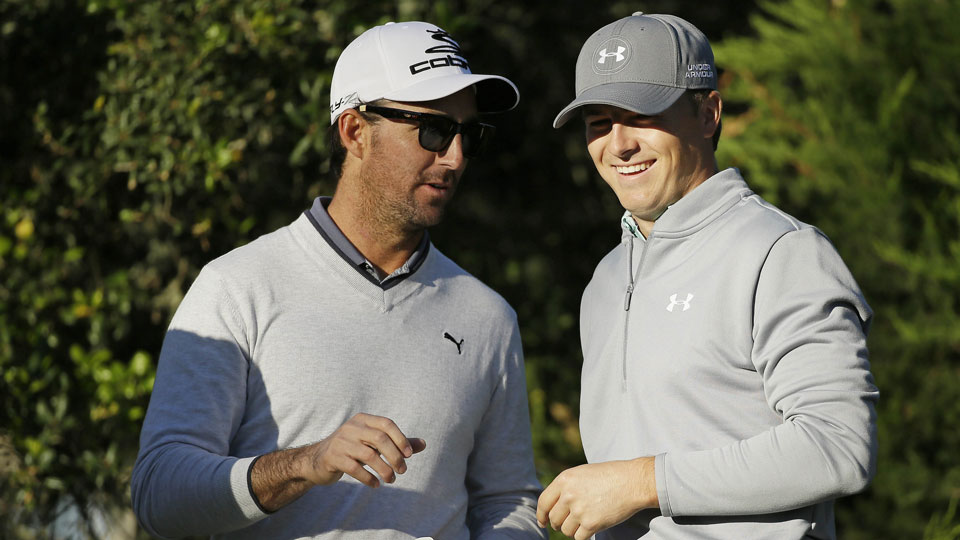 Jordan Spieth and Jake Owen were paired in last year's AT&T Pebble Beach Pro-Am, and shared a press conference together Wednesday.