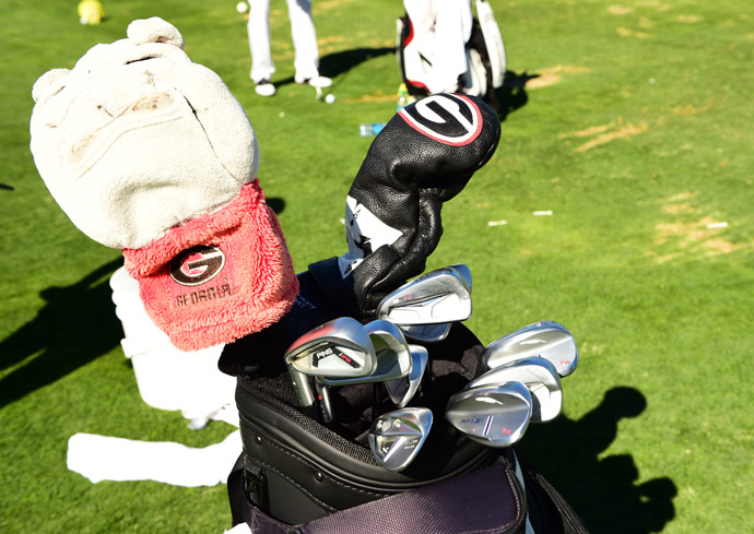 Georgia Bulldog Brian Harman is playing TaylorMade's M1 driver, M1 and M2 fairway woods, PING irons and forged Fourteen wedges.