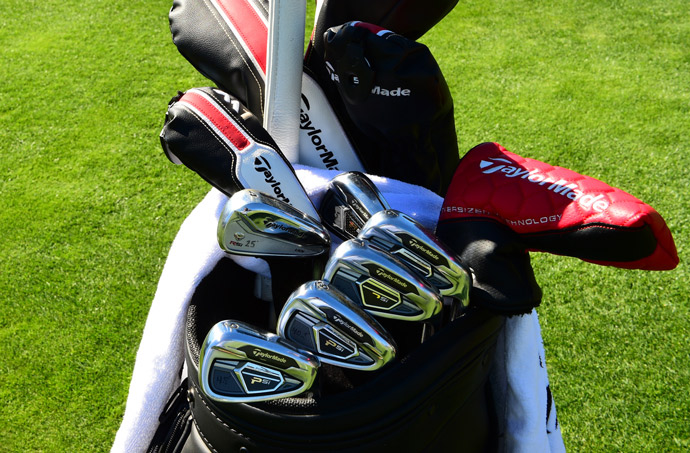 TaylorMade player and fitness fanatic Camilo Villegas has a bag full of TaylorMade sticks including new PSi irons.