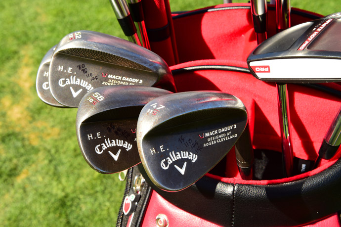 Callaway player Harris English carries forged MB1 irons, Mack Daddy 2 wedges, a Two-Ball putter and a Big Bertha Alpha driver.