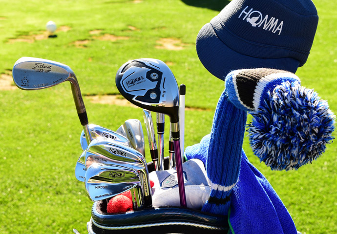 Hiroshi Iwata games a customized set of Honma woods and irons and Titleist Vokey wedges.