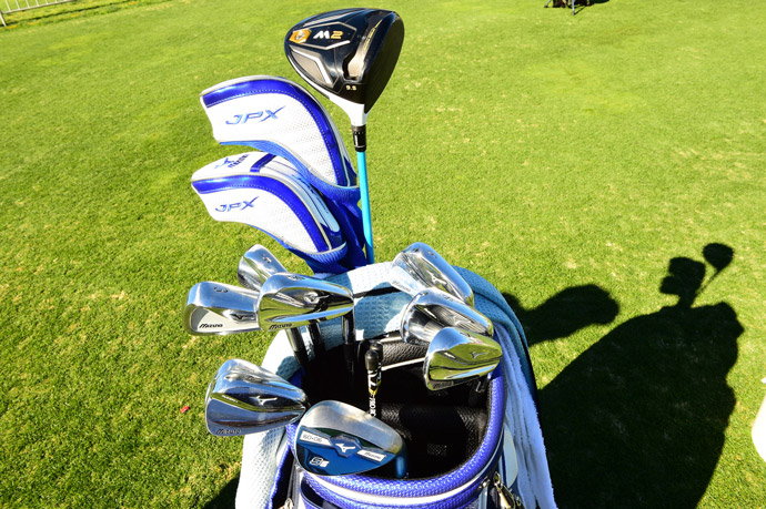 Luke Donald favors forged Mizuno irons, a blue Mizuno S5 wedge and a brand new TaylorMade M2 driver.