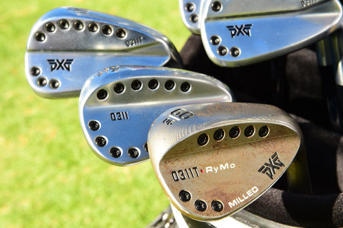 Ryan Moore's stealthy PXG Staff bag is full of the company's new Tour irons, woods, wedges, and putter.